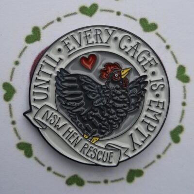 """Until Every Cage Is Empty"" Enamel Pin"